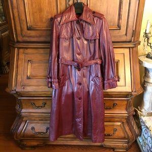 Etienne Aigner Leather Coat